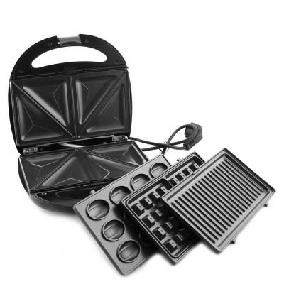 Купить Бутербродница 4в1 Domotec MS 7704 (орешница, вафельница, гриль, сендвичница) в Одессе