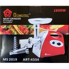Мясорубка Domotec MS 2019 RED \2400W\+ соковыжималка