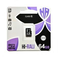 Карта пам'яти microSDHC (UHS-3) 64GB class 10 Hi-Rali