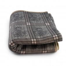 Электропростынь с сумкой electric blanket 150*120 клечтчатая серая