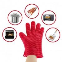 Перчатки-прихватки силиконовые жаропрочные Красные